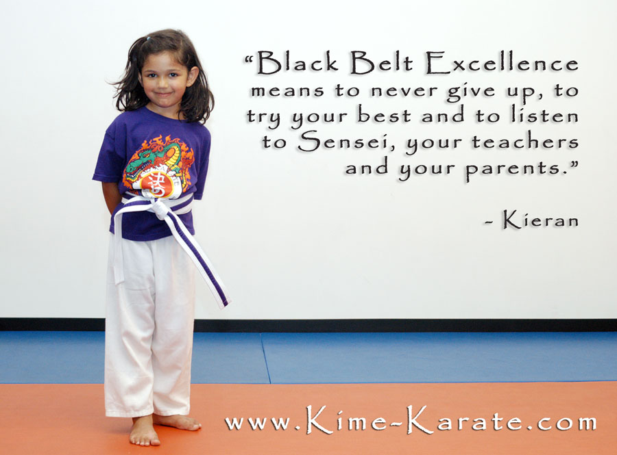 Black belt excellence definition dragon Kime Karate kid