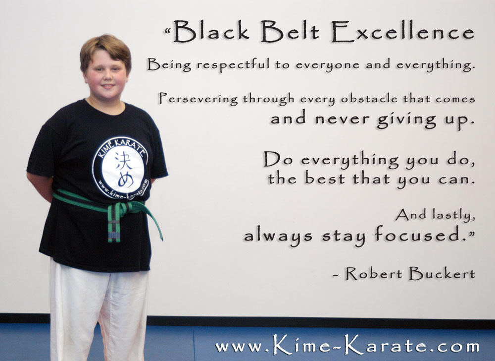 Black Belt Excellence definition by Robert Buckert from Kime Karate in Fairport
