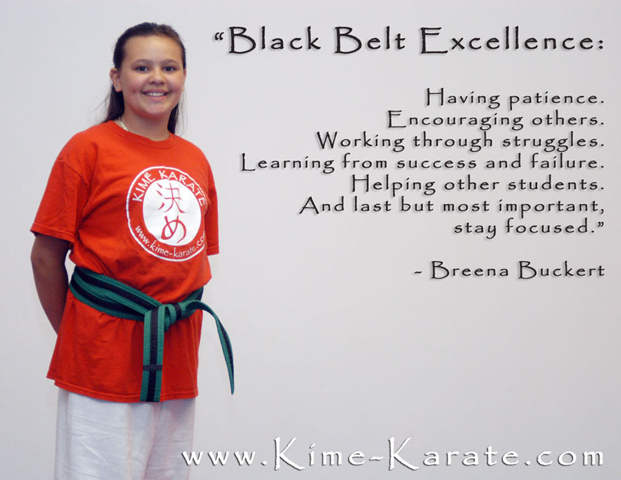 Black Belt Excellence definition Kime Karate Fairport